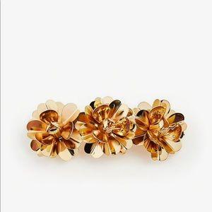 Ann Taylor metallic flower barrette